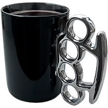 MIK funshopping - Taza con asa de puño de acero, color negro