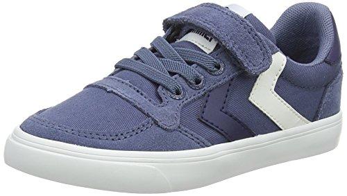 Hummel Unisex-Kinder Slimmer Stadil Low JR Sneaker, Blau (Vintage Indigo), 36 EU
