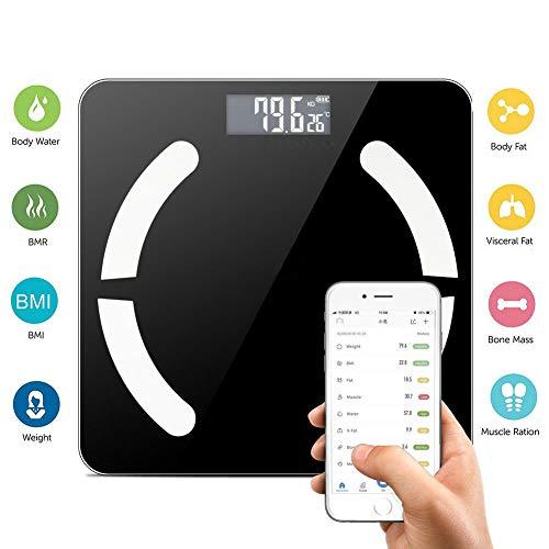 Leoie Bluetooth LCD Digital Smart Waage Body Weight Fat BMI Bone Analyzer App -