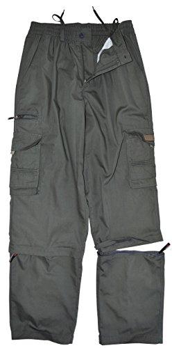 Cotton Zip-off-hose (thb Richter Herren 3/4 Zip-Off Cargohose Freizeithose Trekkinghose Cargo Lange Hose Pants Arbeitshose Outdoor Men's (XL, Dunkelgrau))