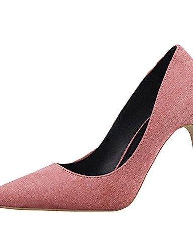 WSS 2016 Chaussures Femme-Décontracté-Noir / Rose / Violet / Rouge / Gris / Multi-couleur-Talon Aiguille-Talons-Talons-Laine synthétique gray-us8 / eu39 / uk6 / cn39