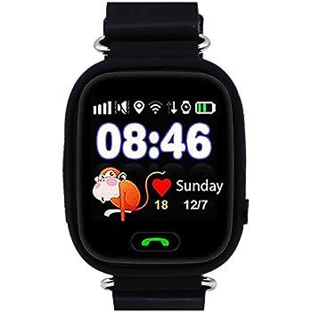 montre intelligente gps pour enfants, traceur de smartwatch gps pour enfant, supporte la carte sim gsm avec écran tactile appel sos conversation vocale ...