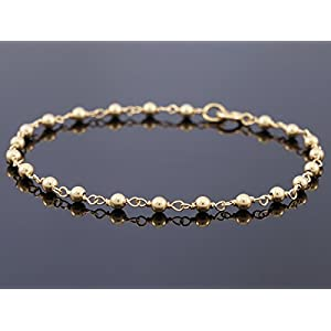 Zartes Metallperlen Armband Layering Damen