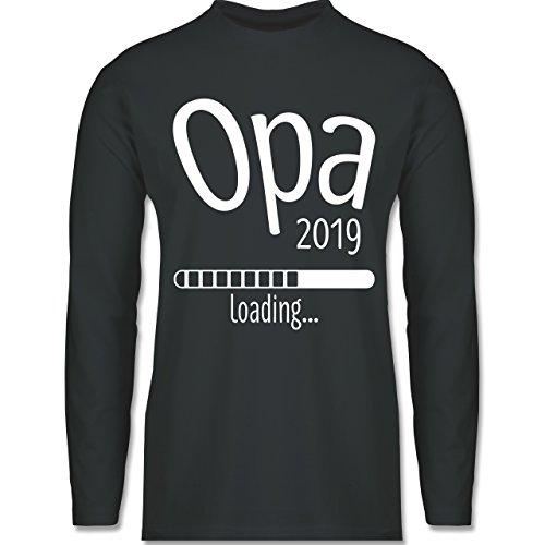 Shirtracer Opa - Opa 2019 Loading - Herren Langarmshirt Dunkelgrau