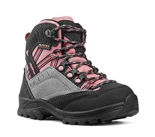 alpina Wanderschuhe, Wanderstiefel für Mädchen in pink/grau mit Rutschfester Sohle (26 EU)