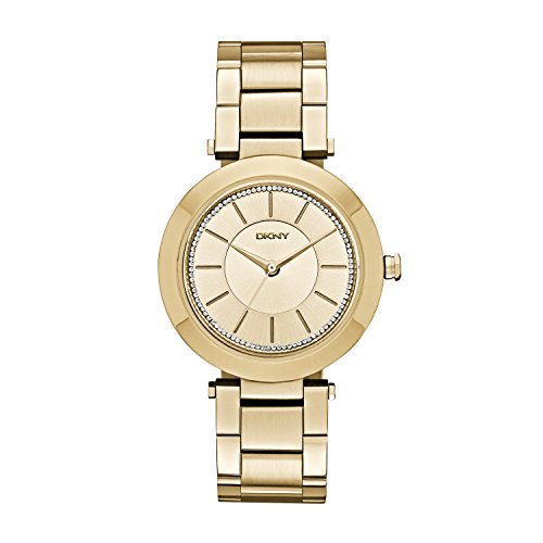 DKNY NY2286 – Reloj de cuarzo con correa de acero inoxidable para mujer, color dorado