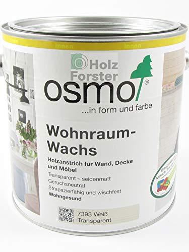 OSMO Wohnraum-Wachs 7393 weiß transparent, 2,50 Liter
