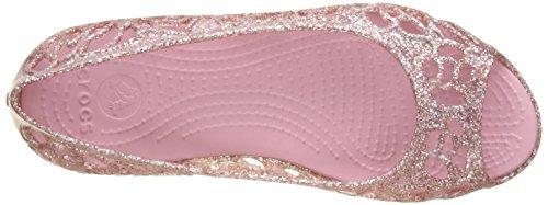 crocs Mädchen Isbelagltrfltgs Durchgängies Plateau Ballerinas Pink (Blossom)