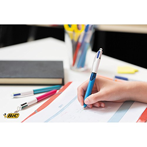 BIC 4 Colours Grip Ball Pens Medium Point (1.0 mm) - Pack of 2+1 Img 3 Zoom