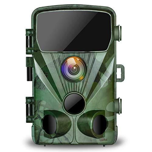 """TOGUARD Wildkamera 20MP 1080P Jagdkamera mit 20M Infrarot Nachtsicht Bewegungsmelder IP56 wasserdichte Überwachungskamera 130°Weitwinkel Beutekameras 2.4\"""" LCD für Wildlife Jagd und Haussicherheit"""