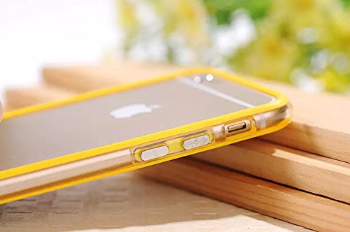 Best Style Iphone 6 Plus Silicon Bumper Transparent Yellow by G4GADGET®