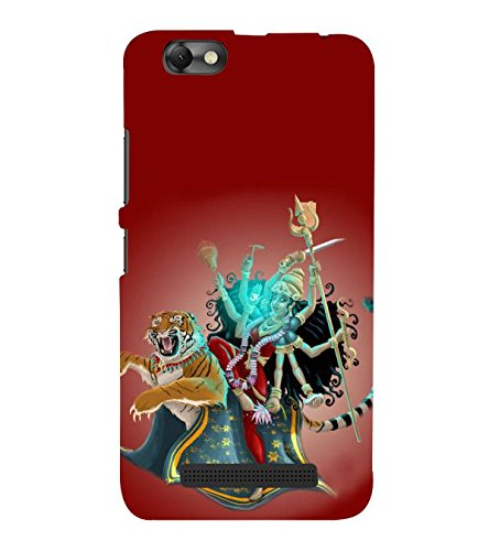 Fuson Designer Phone Back Case Cover Lenovo Vibe C :: Lenovo A2020 ( Goddess Kali Destroying Demons )
