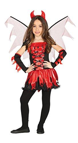 Costume Diavolessa Vestito Demone, Bambina 7-9 anni