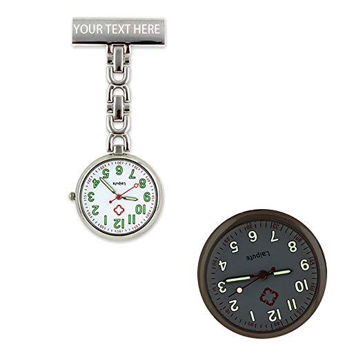 Personalisierte gravierte Krankenschwester Fob Watch Arzt Taschenuhr Männer Frauen Clip-on hängen leuchtende Uhr Graduierung Muttertagsgeschenk - Benutzerdefinierten Namen Geschenk für Sie