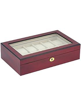 Holz Uhrenbox 1B Ware 12 Uhren mit Echtglas Uhrenvitrine Uhrenschatulle