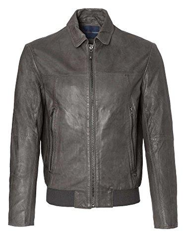 trussardi-jeans-men-leather-jacket-grey-38