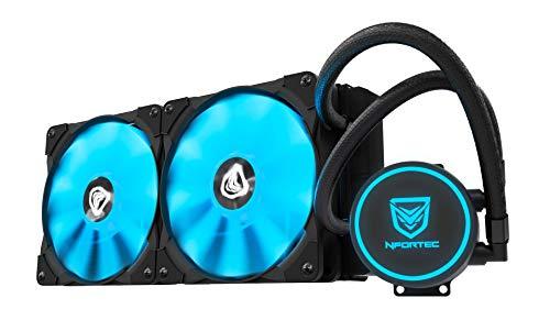 Nfortec Hydrus V2 Refrigeración Líquida 240mm con Ventilador LED Blue de 120mm...