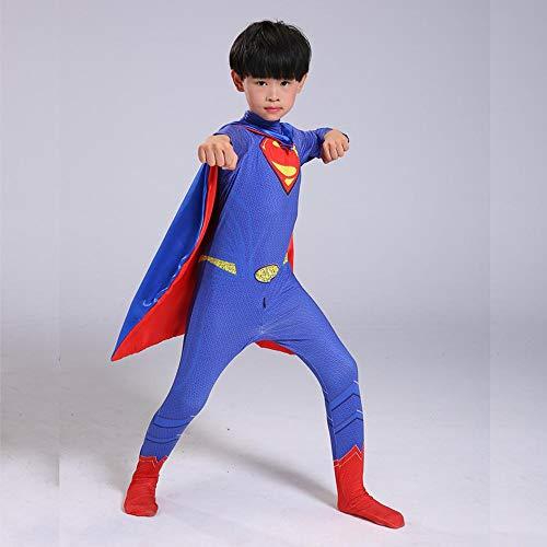 Lydia's Anime Cosplay Kleidung Batman VS Superman Cosplay Kostüm Marvel 3D Digitaldruck Enge Weihnachten Halloween Kostüm Für Kinder/Erwachsene A-S (Superman Batman Vs Superman-kostüm,)