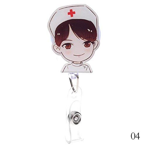 Holder Retractable Reel Key ID Abzeichen Halter Krankenschwester Karte Abzeichen Clip Dokument Einziehbare Schnalle (#4) ()