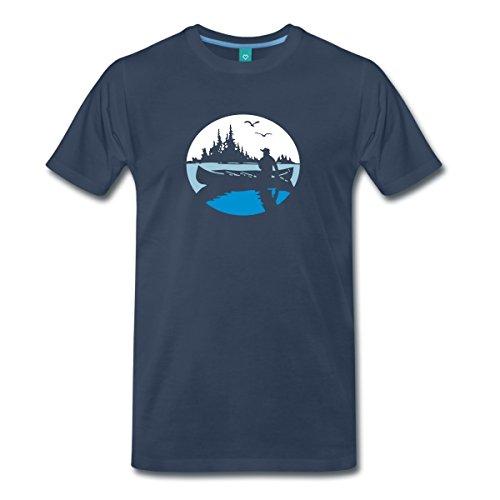 kanadier-kanu-wildnis-boot-idylle-mnner-premium-t-shirt-von-spreadshirt-l-navy