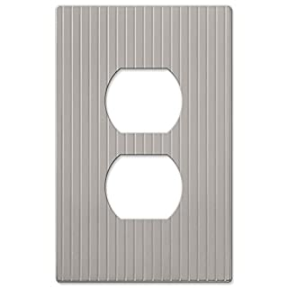 Amerelle 240DN Mies Screwless Cast 1 Duplex Wallplate, Satin Nickel