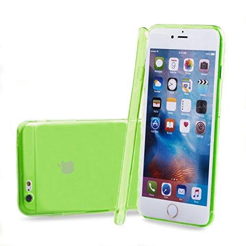 Apple iPhone 6S / 6 | iCues Colorado TPU Case Schwarz | Staubschutz durch Staubstecker Stöpsel mit Kamera Schutz Staubdicht Dust Proof Extra Leicht sehr Dünn Transparent Klarsichthülle Durchsichtig Kl Grün