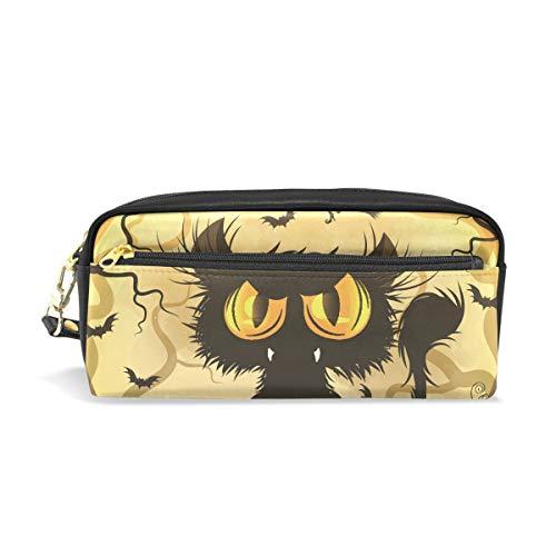 für Mädchen und Jungen, Halloween, schwarze Katze, Vollmond, Stifttasche, Make-up-Tasche, große Kapazität, wasserdicht für Frauen ()