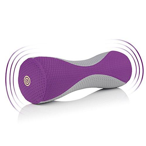 VITALmaxx 03276 Vibration Faszienrolle | Massagerolle Gymnastikrolle Fitnessrolle | Faszientraining bei Verklebungen & für gesundes Bindegewebe | Leistungssportler und Amateursportler | Lila/Grau