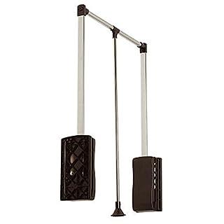 SO-TECH® Kleiderlift Lift breitenanpassbar von 875-1200 mm schwarz (Beschlag ohne Schrank!)
