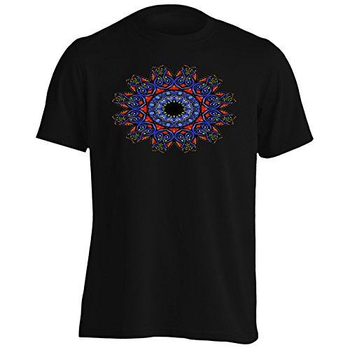 Colorido Mandala Étnico Camiseta de los hombres p174m