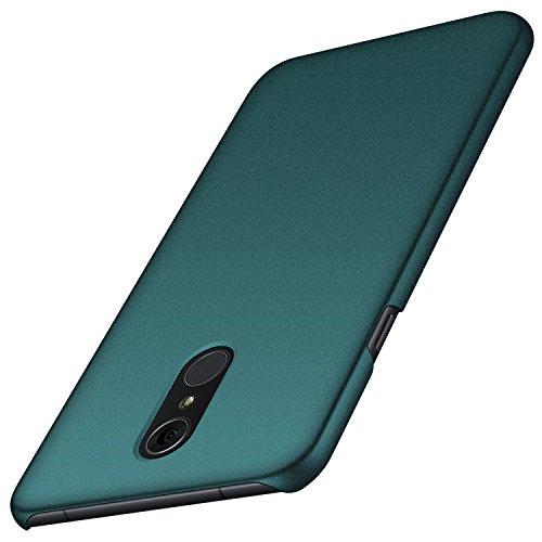 anccer LG Q7 Hülle/ Q7 Plus Hülle/ Q7 Alpha Hülle, [Serie Matte] Elastische Schockabsorption und Ultra Thin Design für LG Q7/ Q7 Plus/ Q7 Alpha (Kies Grün)