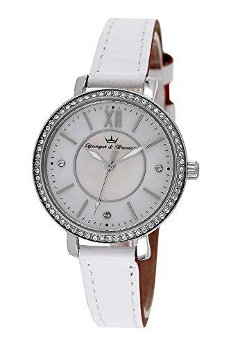YONGER&BRESSON Femme Date Standard Quartz Montre avec Bracelet en Cuir DCC 049S/BB