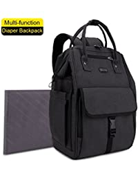 GYSSIEN Diaper Bag Multi-function Waterproof Travel Backpack Nappy Bags For Baby Care, Large Capacity, Stylish...