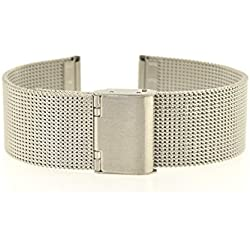 Eichmüller Milanese M19 14 mm Stainless Steel Bracelet Watch Strap with Folding Clasp