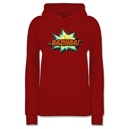 Comic Shirts - Bazinga! - S - Rot - JH001F - Damen Hoodie