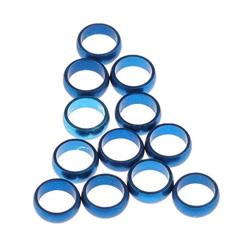 *Gazechimp 12 Stück Metall O-Ringe Dartringe Schaftringe Dart Zubehör – Blau*