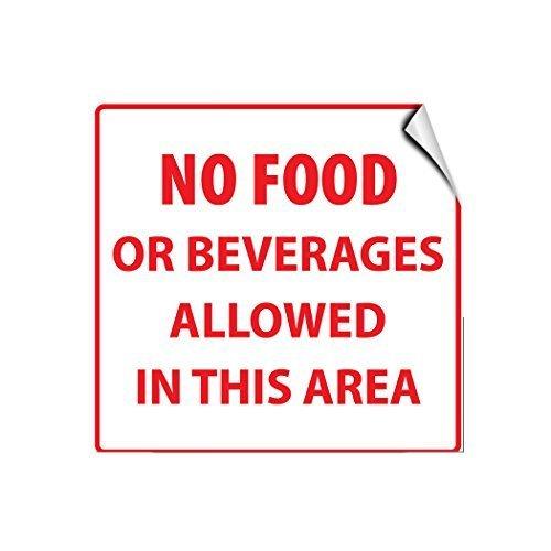 No Lebensmittel oder Getränke Allowed in diesem Bereich Aktivität Pool Deko Schilder mit Sprüche Metall Aluminium Wand Sicherheit Schild