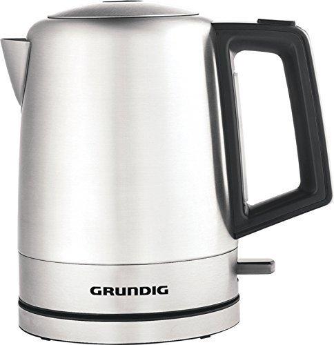 Grundig-WK 4640 Wasserkocher 1L, schwarz, Edelstahl, 2200W
