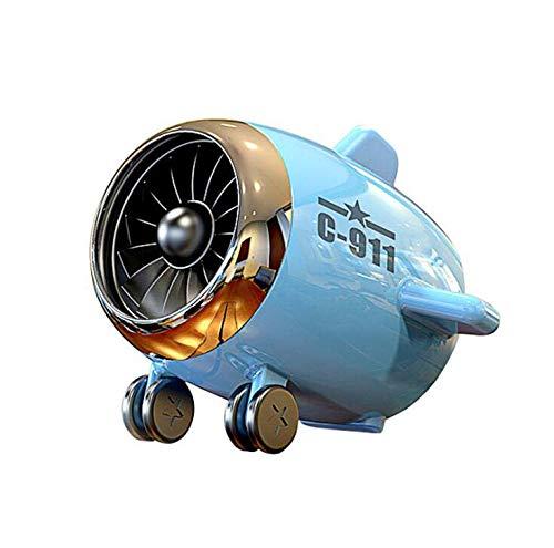 CE-LXYYD Kreative tragbare Kämpfer Subwoofer, Mini niedlichoutdoor Flugzeug Bluetooth Audio,Blue