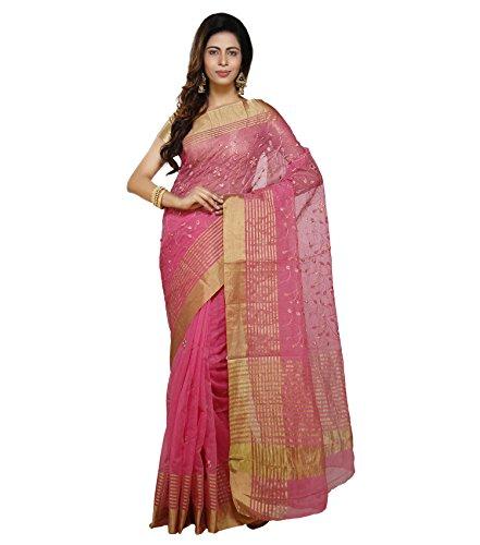Vedika Creations Pink Colour Supernet Saree Fancy Sari
