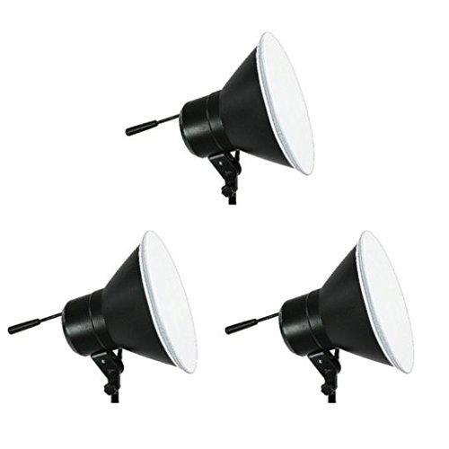 FotoQuantum StudioMax Kit Daylight 750/750/750W mit Reflektor + Lampenstativ 2.5m + Galgenstativ + Produktfototisch 130x60cm