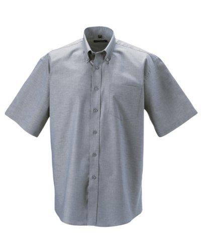 russell-camicia-classica-manica-corta-uomo-collo-47cm-petto-117-122cm-argento