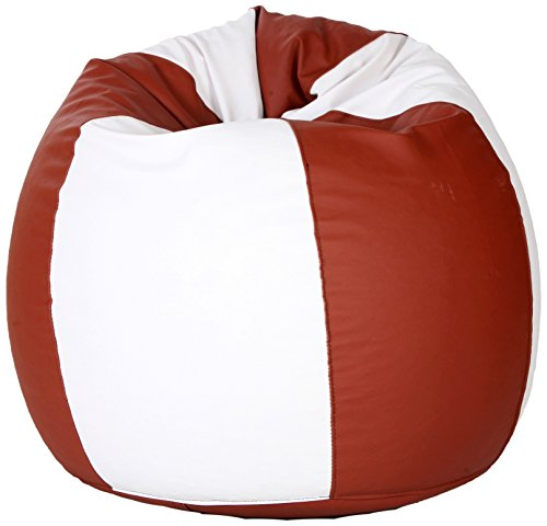 Comfy Bean Bags Bean Bag - Size Xxxl - Without Fillers - Cover Only (Tanbrown & White)  available at amazon for Rs.549