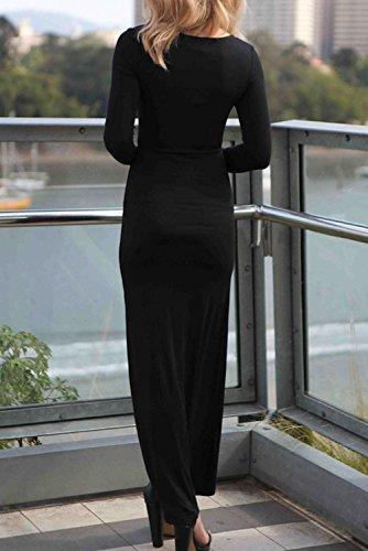 E-Girl femme Gris SY6718-1 longue Robe Noir