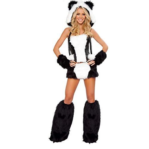 ZSTY Cosplay, Halloween Erwachsene Sexy National Treasure Panda Katze Mädchen Fell Tier Cosplay Kostüm Unisex (Panda Sexy Kostüm)
