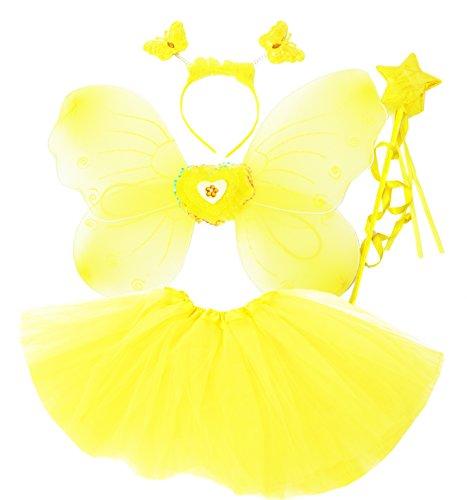 Fun Play Fee Kostüm für Mädchen - Schmetterling -