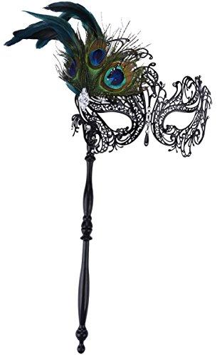 kapmore-masquerade-mask-on-stick-black-halloween-costume-metal-mask-for-women