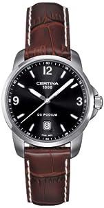 Certina - Reloj Analógico de Cuarzo para Hombre, correa de Cuero color Marrón de Certina