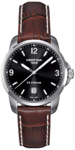 Certina Herren-Armbanduhr XL Analog Quarz Leder C001.410.16.057.00