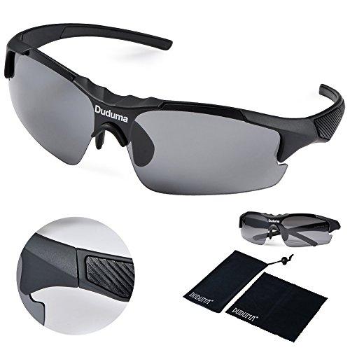 Duduma Gafas de Sol Deportivas Polarizadas para hombre Perfectas para Esquiar Golf Correr Ciclismo TR46 Sš²per liviana para hombre y para mujer.